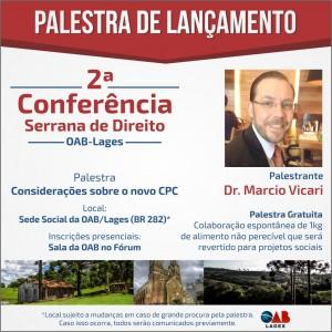 palestra lançamento 2ª conferência INSCRIÇÕES
