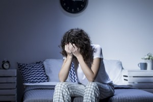 Young woman depression